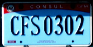 License plates of the united states for Consul license